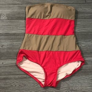 DKNY • Colorblock Striped One Piece Swimsuit